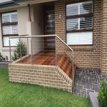 Stainless and glass balustrades for safe walkway