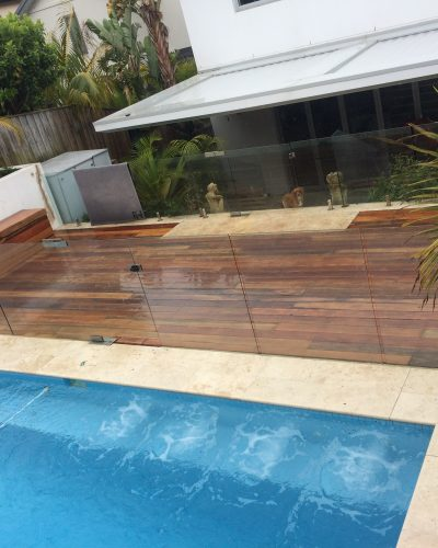 Custom Pool Deck with Glass Fencing