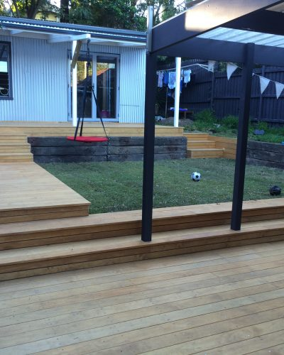 Composite timber decking & screening